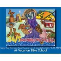 Abingdon Press 197200 VBS 24 by 7 Jesus Makes A Way Every Day Invitation Postcard - Pack of 24