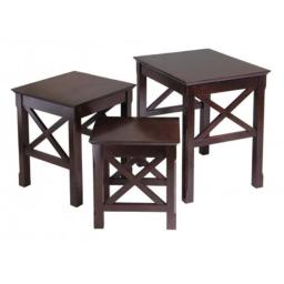 Winsome 40333 Xola 3pc Nesting Table