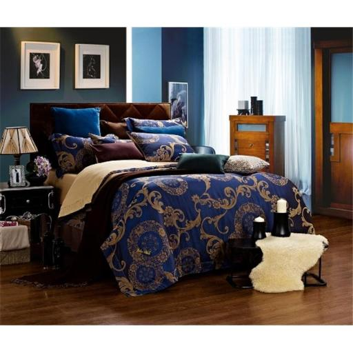 Dolce Mela DM479Q Dolce Mela DM479Q Jacquard Damask Luxury Bedding Queen Duvet Cover Set