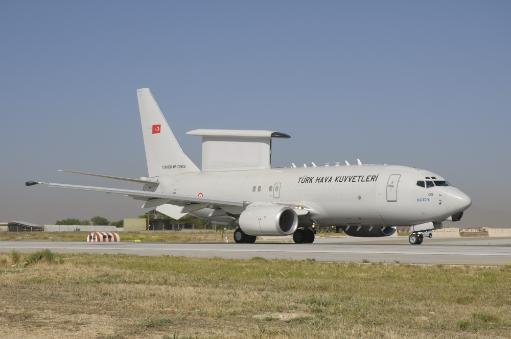 A Turkish Air Force Boeing 737 AEW & C during Exercise Anatolian Eagle at Konya Air Base, Turkey Poster Print