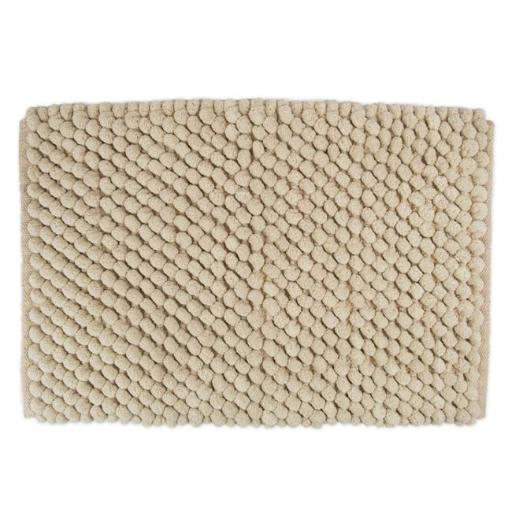 Design Imports Solid Taupe Microfiber Bath Mat 17X24 inch