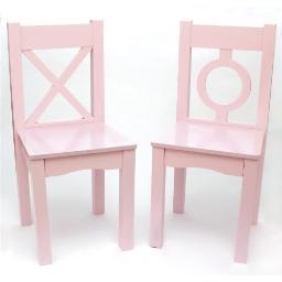 Lipper 521-2pk childs chairs light pink 2pk