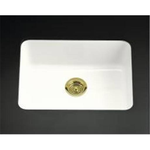 Kohler Company 114766 Kohler Iron-Tones Self Rimming Or Undermount Cast Iron Sink White