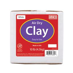 Air-Dry Modeling Clay 10lb White