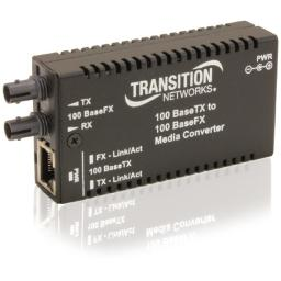 Transition networks m/e-tx-fx-01(sc)-na mini 100basetx to 100basefx sc