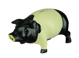 Black and White Cast Iron Vintage Style Piggie Bank