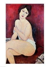 Large Seated Nude Poster Print by Amedeo Modigliani BALXIR159276