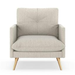 NyeKoncept 50140194 Remy Armchair Satin Weave - Wheat with Brass Finish
