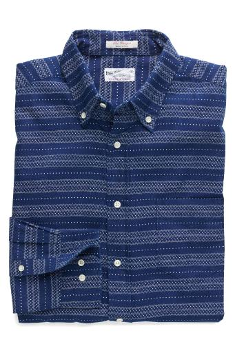 GANT Rugger Men's Printed Oxford Shirt, Dark Indigo, Medium