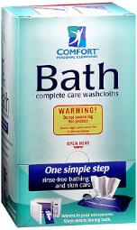 Comfort Bath Complete Care Washcloths - 4 Packs Of 8, Pack Of 3