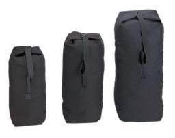 Top Load Canvas Duffle Bags, Military Style Gear Bags