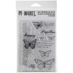 "49 & Market Clear Stamps 4""X6""-Gabi's Butterflies Are Free"
