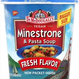 Dr. Mcdougalls Right Foods Vegan Minestrone Pasta Soup 2.3-Ounce Cups -Pack of 6