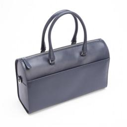 Royce Leather RFID-236-BLE-2 RFID Blocking Saffiano Leather Carry On Travel Duffle Barrel Bag Luggage