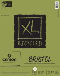 "Canson XL Recycled Bristol Paper Pad 11""X14""-25 Sheets 702-2426"