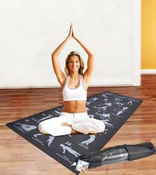 Two Elephant Non-Slip Back Strength Yoga Mat with 28-Position Guide
