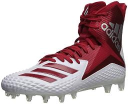 adidas Men's Freak X Carbon Mid Football Shoe, White Power red, 16 M US
