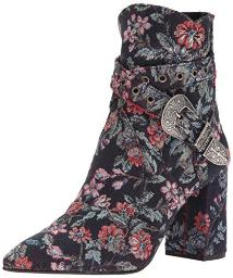 Badgley Mischka Women's Morrisey Ankle Boot, Navy Floral, 7.5 M US