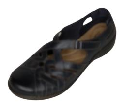 Clarks Collection Women's Sz 8 Leather Slip Ons Cora Dream Shoes