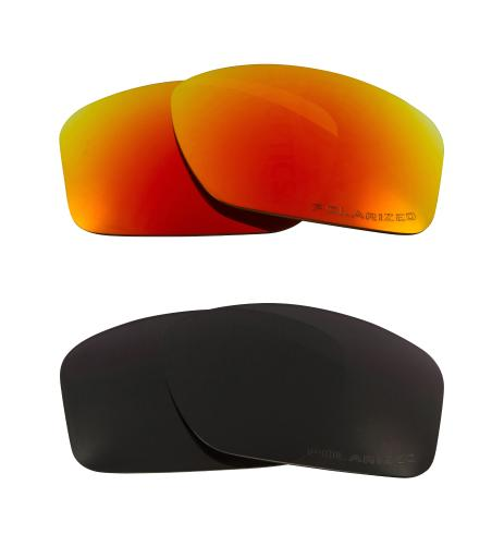 Best SEEK Replacement Lenses for Oakley SQUARE WIRE (2006) Black Red Mirror