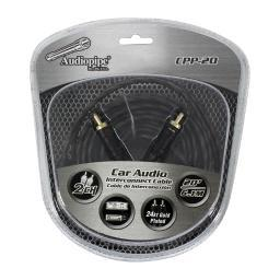 Audiopipe Cpp-20 Audiopipe 24Kt Gold Plated Interconnect Cable 20Ft