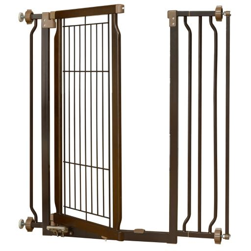 Richell 94903 Coffee Bean Richell Hands-Free Pressure Mounted Pet Gate Coffee Bean 28.3 - 37.2 X 8.7 X 36.6