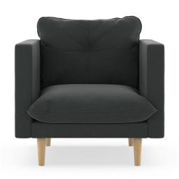 NyeKoncept 50180602 Cross Weave Beckham Armchair, Raven Gray & Natural