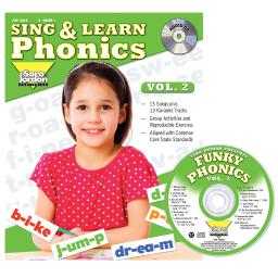 Sara jordan publishing sing  learn phonics book cd vol 2 126lk