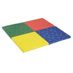 Early Childhood Resources ELR-12675 SoftZone Hands & Feet Play Mat, 4-Fold