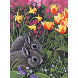 """Junior Small Paint By Number Kit 8.75""""X11.75"""" Spring Bunnies"""