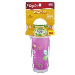 Playtex PlayTime Insulated Spoll-proof Spout Cup, 9oz - 1 Pkg Assorted Colors