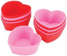 Silicone Standard Baking Cups-Heart 12/Pkg W415-9409