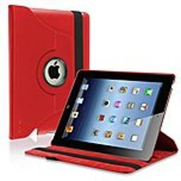 eForCity PAPPIPADLC44 Protective Carrying Folio Case for iPad Air - Red - Scratch Proof - Synthetic PAPPIPADLC44