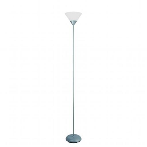 All The Rages LF1011-SLV Simple Designs 1 Light Stick Torchiere Floor Lamp, Silver