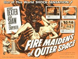 Fire Maidens Of Outer Space Lower Left: Anthony Dexter On Poster Art 1956 Movie Poster Masterprint EVCMCDFIMAEC004HLARGE