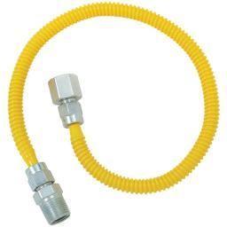 Brasscraft(r) cssl54-36 gas dryer & water heater flex-line (3/8 od (1/2 fip x 1/2 mip) x 36)