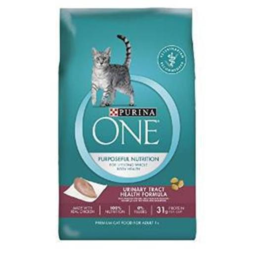 Nestle Purina Petcare 178639 7 lbs One Dry Cat Food Urinary Tract Health Formula Adult Premium, Case of 4