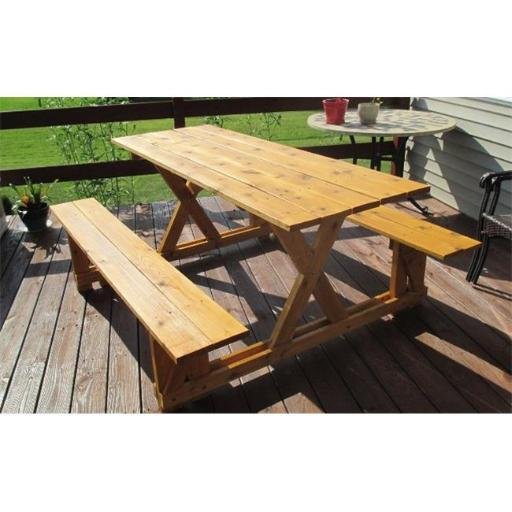 EZ-Access Cedar Picnic Table, Wood