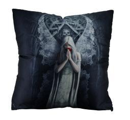 Only Love Remains by Anne Stokes Gothic Angel in Mourning Throw Pillow 20 Inch