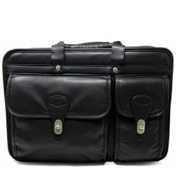 Black Leather Briefcase for Laptop