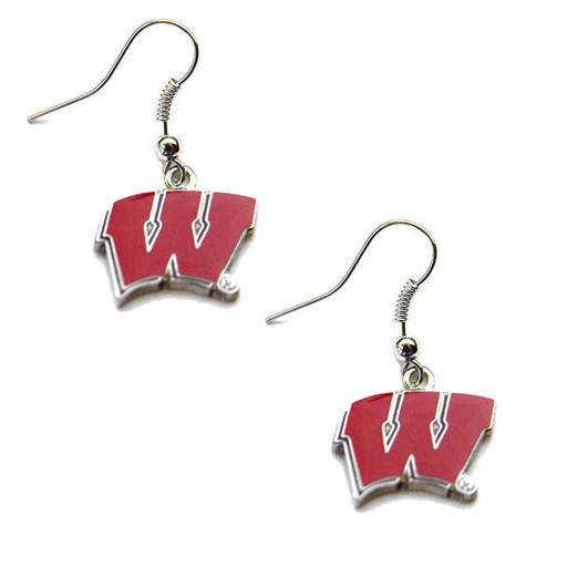 Sports Team Logo Wisconsin Badgers Dangle Logo Earring Set NCAA Charm Gift