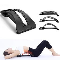 Dual Function Back Stretcher Device - Lumbar Back Support for Chair - Arched Back Lumbar Stretcher