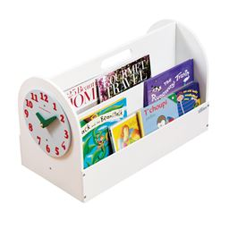 Tidy Books Box with Play Clock - White