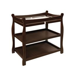 Badger Basket Co Espresso Sleigh Style Changing Table