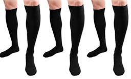 Premium 3 Pack: Unisex Anti-Fatigue Compression Socks Color: Black Size: L 613825076343