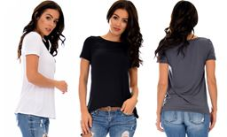 Lyss Loo 3-Piece Pack The New Classic Cuffed Sleeve Tunic Top