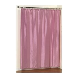 Carnation Home Fashions Lauren Dobby Fabric Shower Curtain in Rose