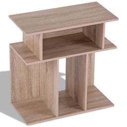 Modern Coffee End Side Table with Storage Shelf
