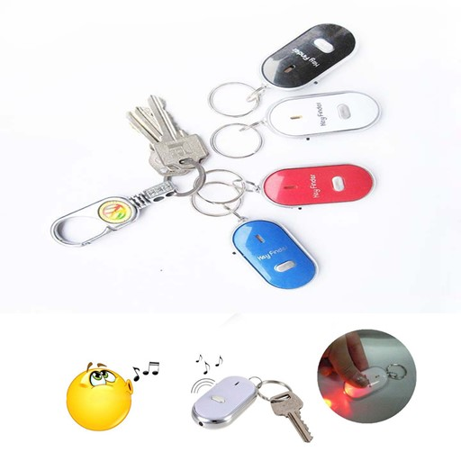 Key Safeguard Anti Lost Beep & Finder With Built In Led Light White 7C9E96CFFBB9B8BA