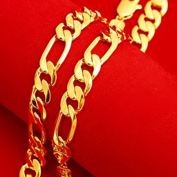 """14K Gold Filled  Thick Figaro Chain 24"""""""